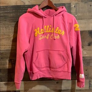 Hollister Pink Orange Surf Club Sweatshirt Hoodie